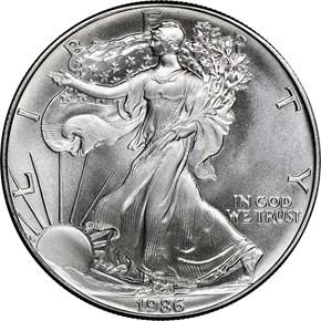 1986 EAGLE S$1 MS obverse