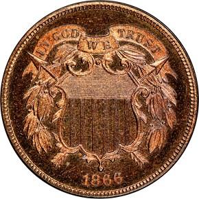 1866 2C PF obverse