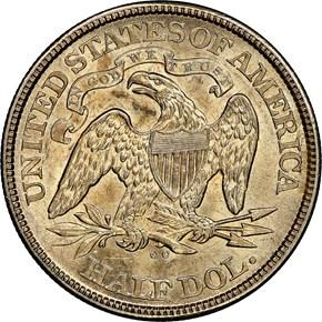 1873 CC NO ARROWS 50C MS reverse