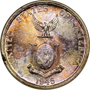 1945 S USA-PHIL 50C MS reverse