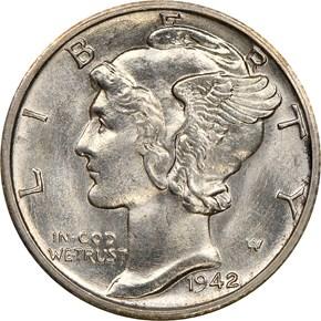 1942 S 10C MS obverse