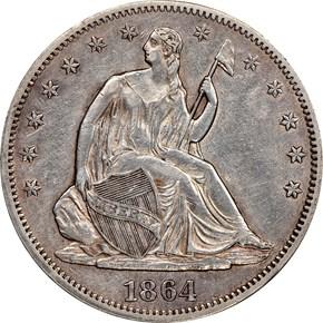 1864 50C MS obverse