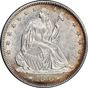 1873 ARROWS 50C MS obverse