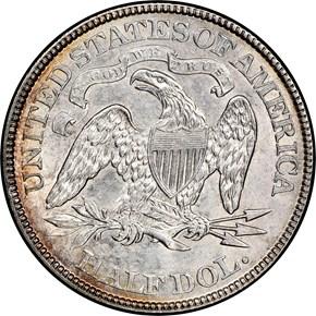 1873 ARROWS 50C MS reverse