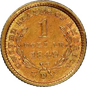 1849 D G$1 MS reverse