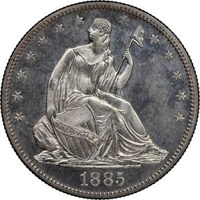 1885 50C PF obverse