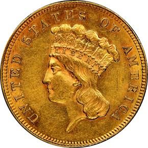 1862 $3 MS obverse