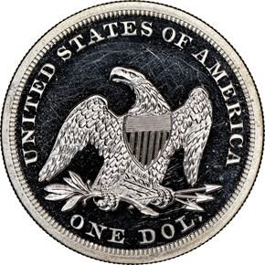 1859 $1 PF reverse