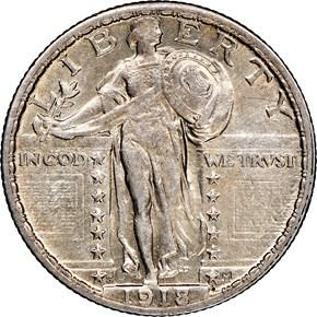 1918/7 S 25C MS obverse