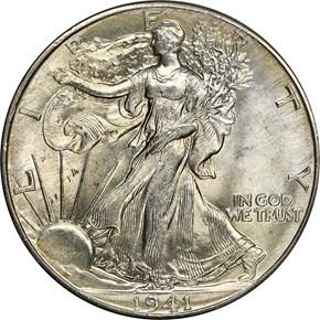1941 50C MS obverse