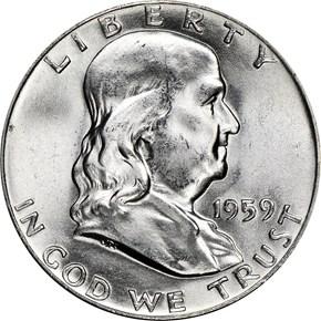 1959 50C MS obverse