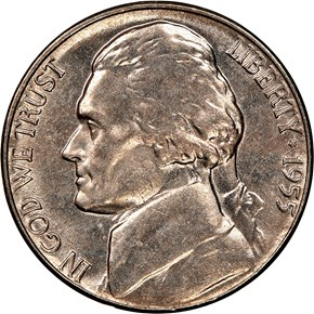 1955 5C MS obverse