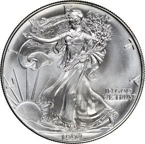 1994 EAGLE S$1 MS obverse
