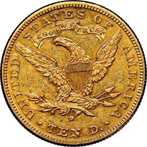 1882 O $10 MS reverse