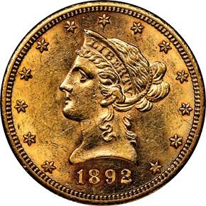 1892 CC $10 MS obverse