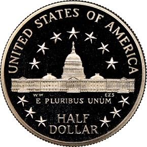 1989 S CONGRESS BICENTENNIAL 50C PF reverse