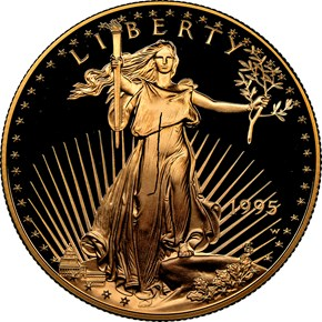 1995 W EAGLE G$50 PF obverse