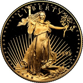 1995 W EAGLE G$25 PF obverse