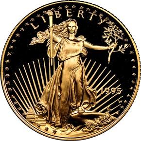 1995 W EAGLE G$10 PF obverse