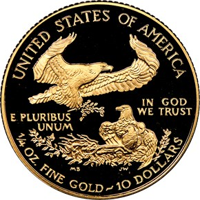 1995 W EAGLE G$10 PF reverse