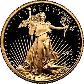 1995 W EAGLE G$5 PF obverse