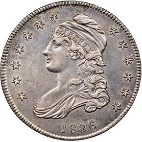 1836 LETTERED 50C MS obverse