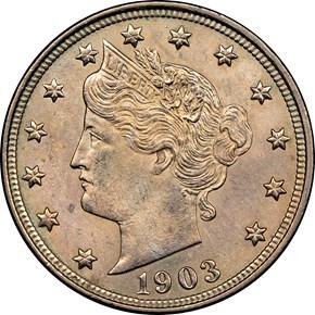 1903 5C MS obverse
