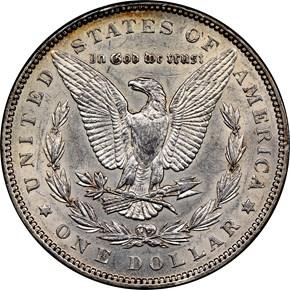 1899 $1 MS reverse