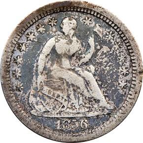 1856 O H10C MS obverse