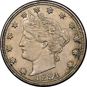 1884 5C MS obverse
