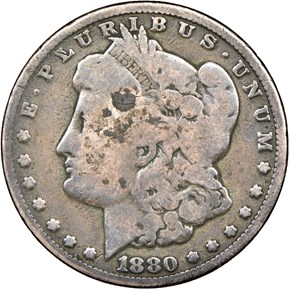1880 CC $1 MS obverse