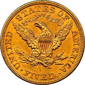 1902 $5 MS reverse