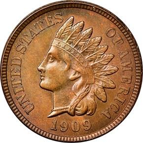 1909 INDIAN 1C MS obverse