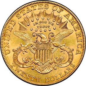 1906 $20 MS reverse