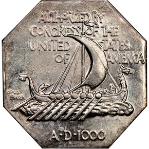 1925 NORSE AMERICAN THIN SILVER MEDAL MS reverse