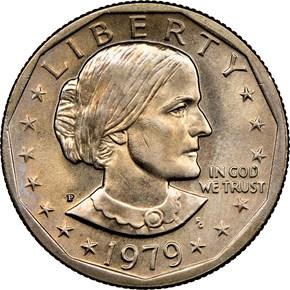 1979 P WIDE RIM $1 MS obverse