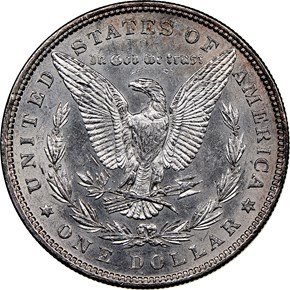 1881 $1 MS reverse