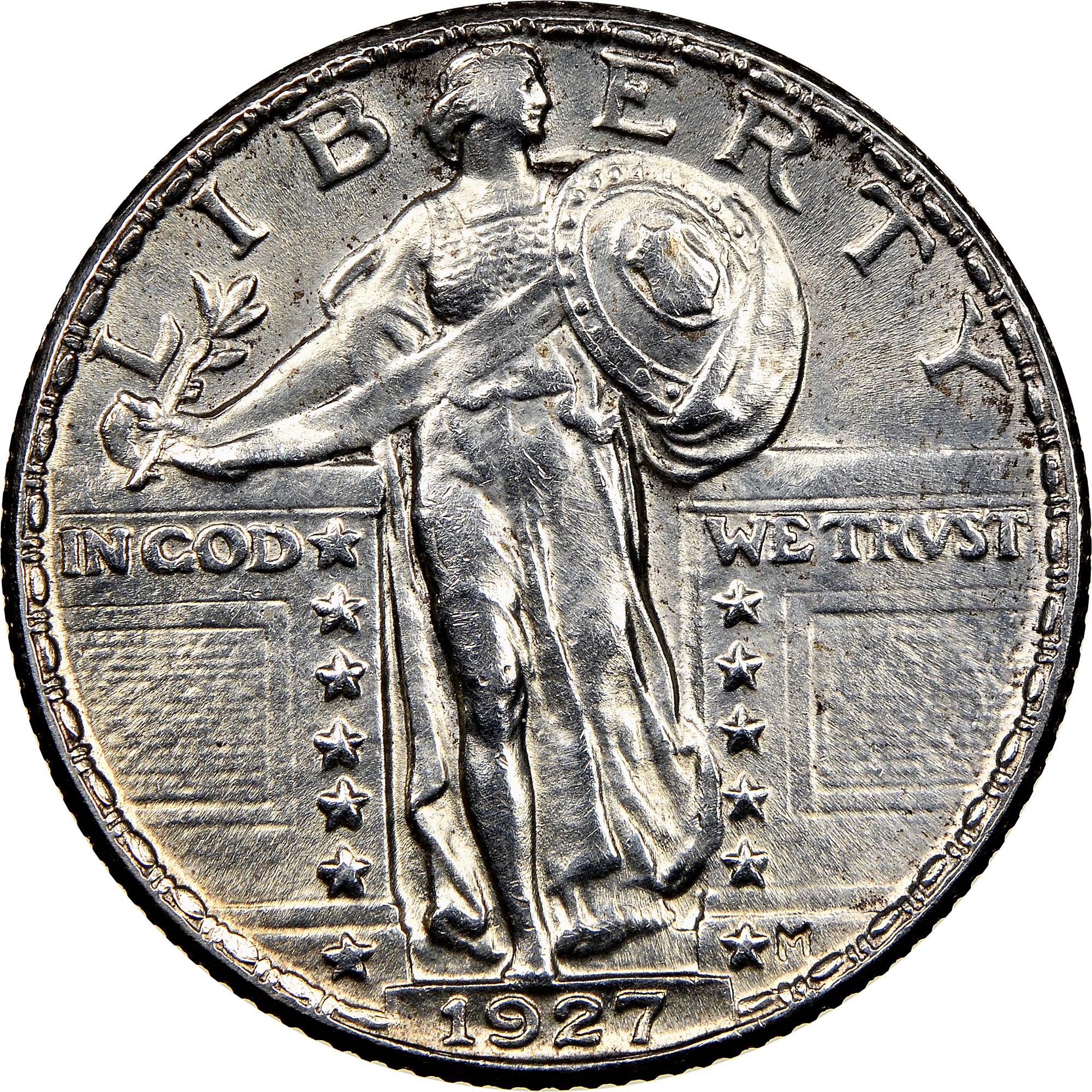 1927 Standing Liberty Silver Quarter EF Uncertified