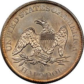 1860 O 50C MS reverse