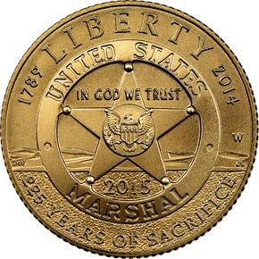 2015 W U.S. MARSHALS SERVICE $5 MS reverse