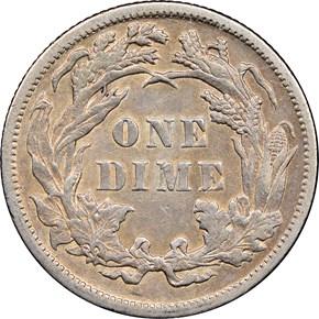1898 10C MS reverse
