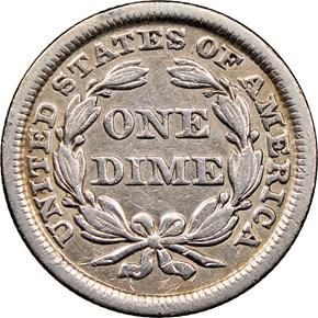 1848 10C MS reverse