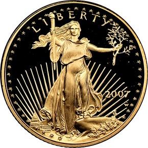 2007 W EAGLE G$5 PF obverse