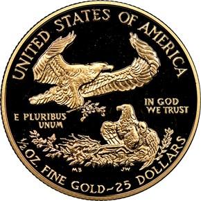 1990 P EAGLE G$25 PF reverse