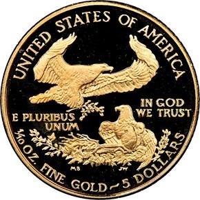 1988 P EAGLE G$5 PF reverse