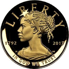 1792-2017 W HIGH RELIEF - .9999 FINE G$100 PF obverse