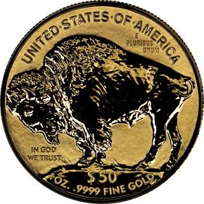 2013 W BUFFALO .9999 FINE G$50 PF reverse