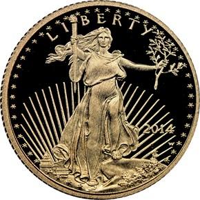2014 W EAGLE G$5 PF obverse