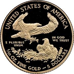 2014 W EAGLE G$5 PF reverse