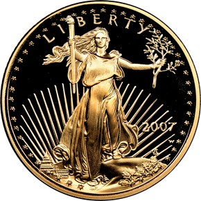 2007 W EAGLE G$10 PF obverse
